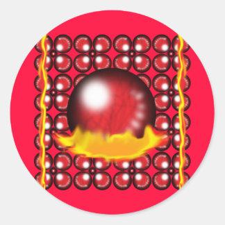 Red Orbs Sticker