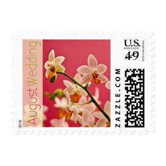Red Orchid • August Wedding Stamp