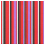 [ Thumbnail: Red, Orchid, Beige, Black, and Dark Red Lines Fabric ]
