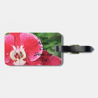 Red Orchid bloosom Tags For Bags