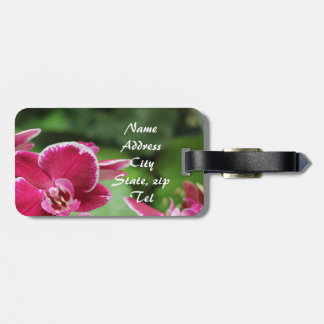 Red Orchid bloosom Travel Bag Tags