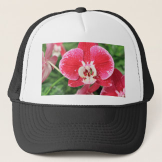 Red Orchid bloosom Trucker Hat