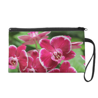 Red Orchid bloosom Wristlet Purse