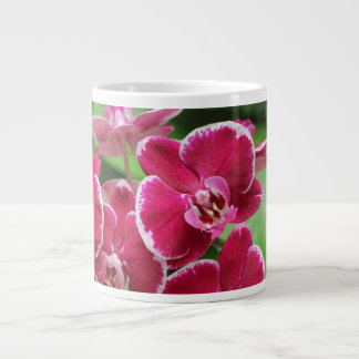 Red Orchid blossom 20 Oz Large Ceramic Coffee Mug