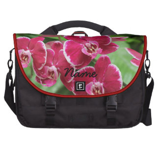 Red Orchid blossom Commuter Bags