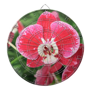 Red Orchid blossom Dart Board