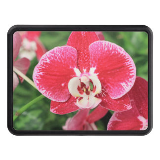Red Orchid blossom Trailer Hitch Cover