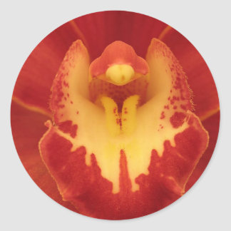 Red Orchid Classic Round Sticker