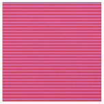 [ Thumbnail: Red & Orchid Colored Stripes/Lines Pattern Fabric ]