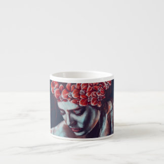 red orchid espresso cup