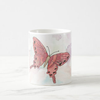 Red Orchid Greeting Mug Watercolor Impressionist