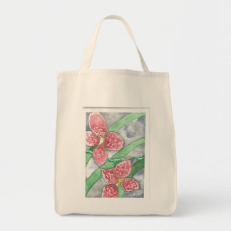 Red Orchid Grocery Tote