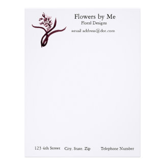 Red Orchid Letterhead