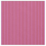 [ Thumbnail: Red & Orchid Lined Pattern Fabric ]