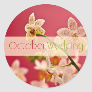 Red Orchid • October Wedding Sticker