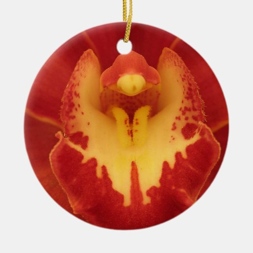 Red Orchid Ornament