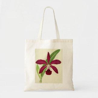 Red Orchid Vintage Print Tote Bag