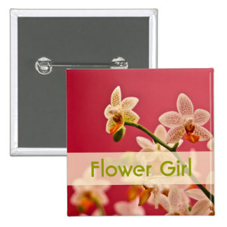 Red Orchid • Wedding Button