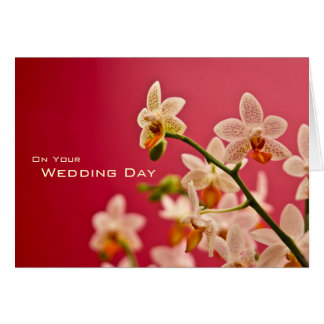 Red Orchid • Wedding Congratulation Card