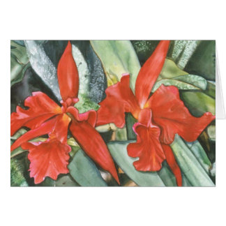 RED ORCHIDS Card