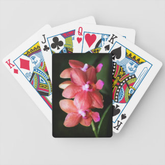 Red Orchids playing cards