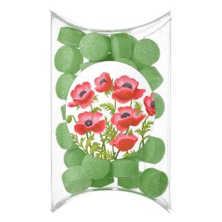 Red Oriental Garden Poppies Gum Favors