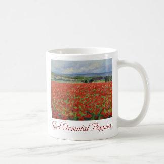 Red Oriental Poppies Mug