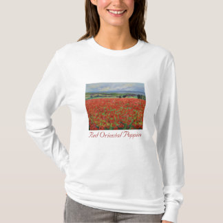 Red Oriental Poppies T-Shirt