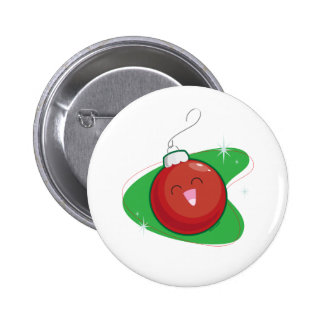 Red Ornament Pinback Buttons