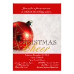 Red Ornament Christmas Dinner Party Invitation