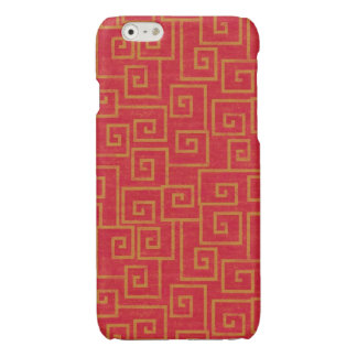 Red Ornament Glossy iPhone 6 Case