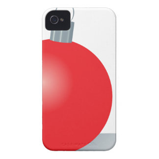 Red Ornament iPhone 4 Cover