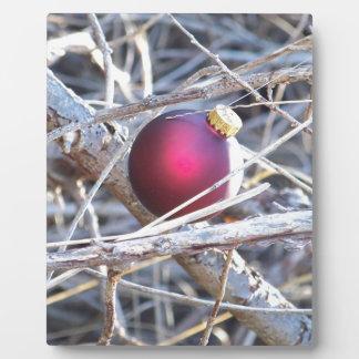 Red Ornament Plaque
