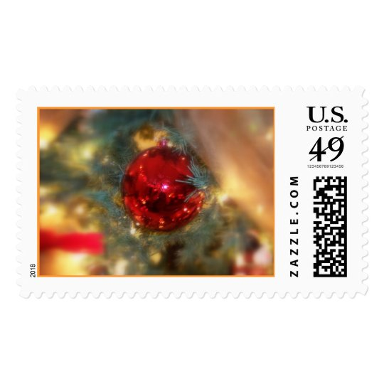 Red Ornament Postage