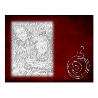 Red Ornament Template Postcard