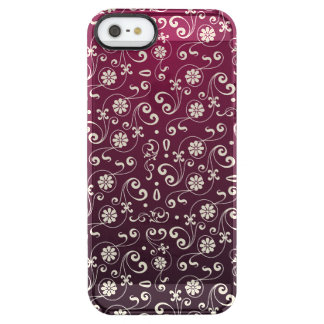 Red ornamental Pattern Clear iPhone SE/5/5s Case