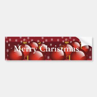 Red Ornaments Bumper Sticker