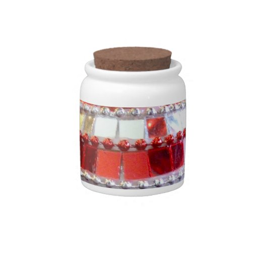 Red Ornaments Candy Jars