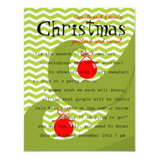 Red Ornaments Card
