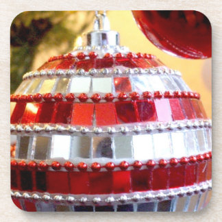 Red Ornaments Coaster
