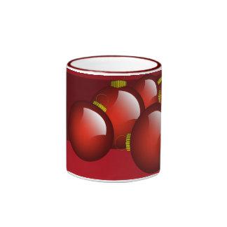 Red Ornaments Coffee Ringer Coffee Mug