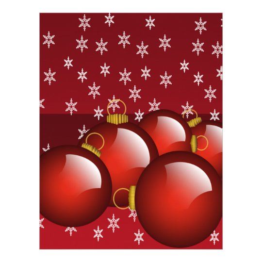 Red Ornaments Letterhead