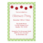 Red Ornaments Polka Dots Christmas Holiday Party Invitations