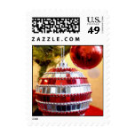 Red Ornaments Postage Stamps