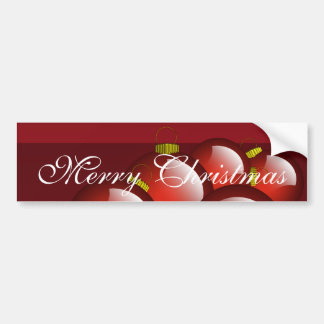 Red Ornaments Stationery Bumper Sticker