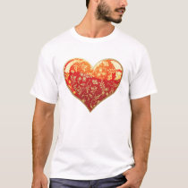 Red Ornate Heart T-Shirt