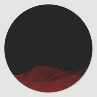 Red Outer Space Classic Round Sticker