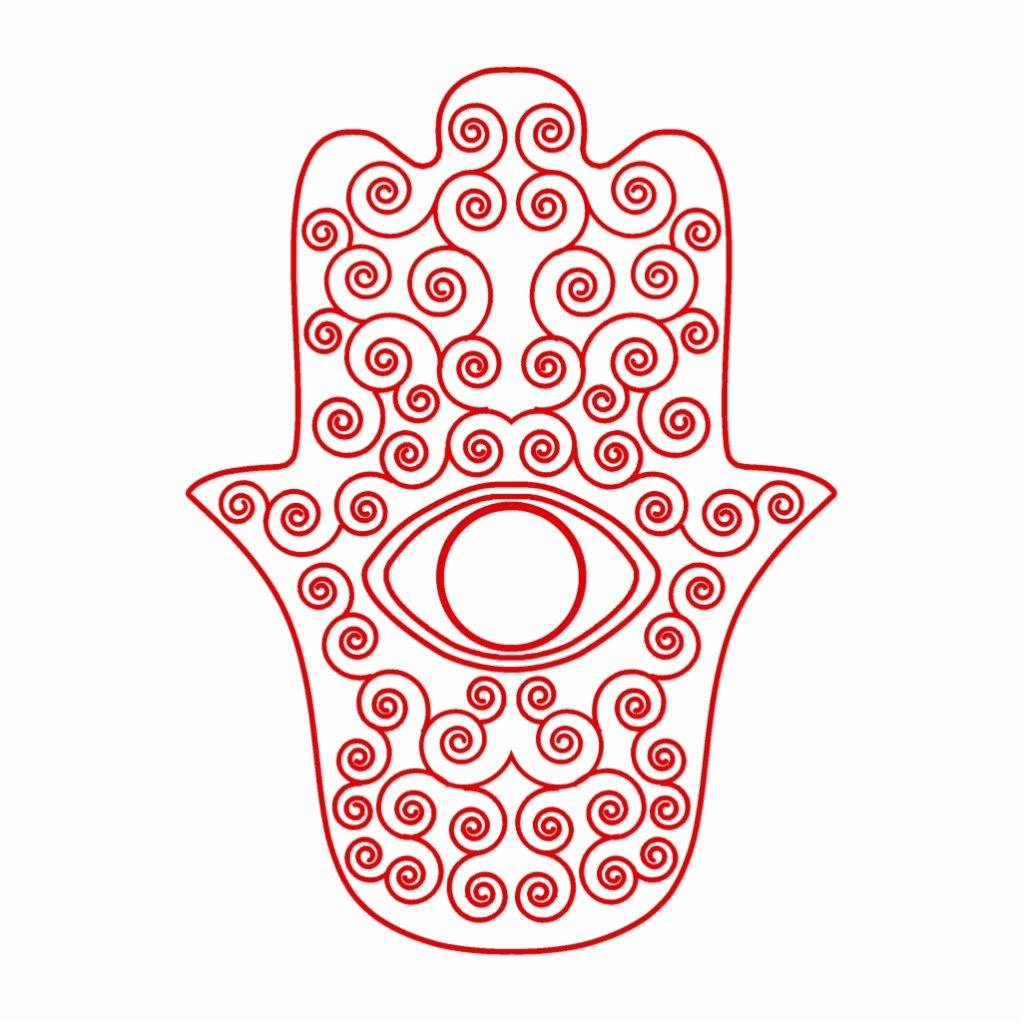 Hand Of Fatima Outline