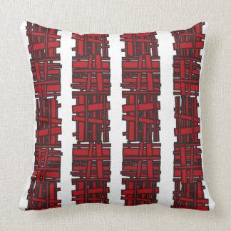 RED OVERLAP DESIGN Retro Throw Pillow