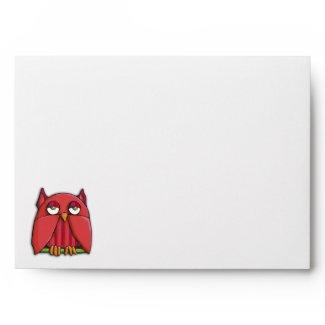 Red Owl A7 Card Envelope envelope